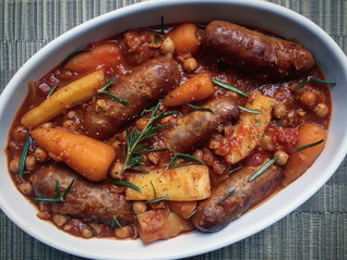 Sausage, Chickpea & Vegetable Casserole