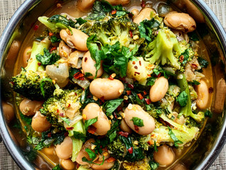 Spicy Broccoli and Butter Bean Stew