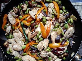 Chicken & Edamame Bean Stir Fry