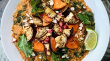 Aubergine, Sweet Potato & Kale Curry