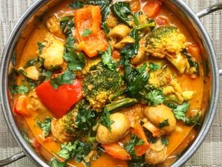 Nutty Four-Veg Curry