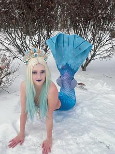 Mermaid Abby as Mermaid Elsa