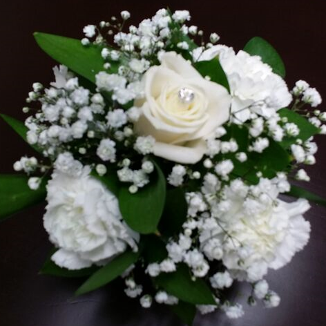 4 Carnation and Rose Centerpiece
