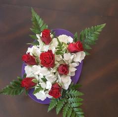 Low Rose and Hydrangeas Centerpiece