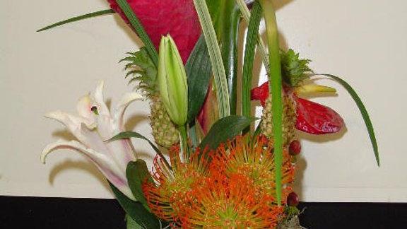 Tropical Design replaces Rose Bouquets (last a lot longer)