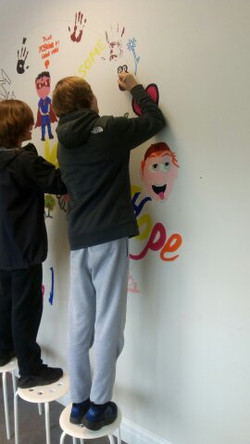 WALL ART TO INSPIRE FUTURE LEARNERS
