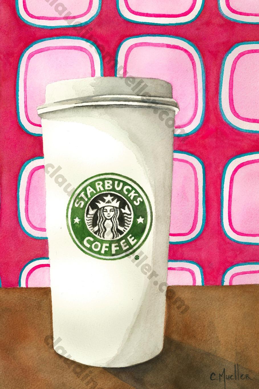 Funky starbucks cup