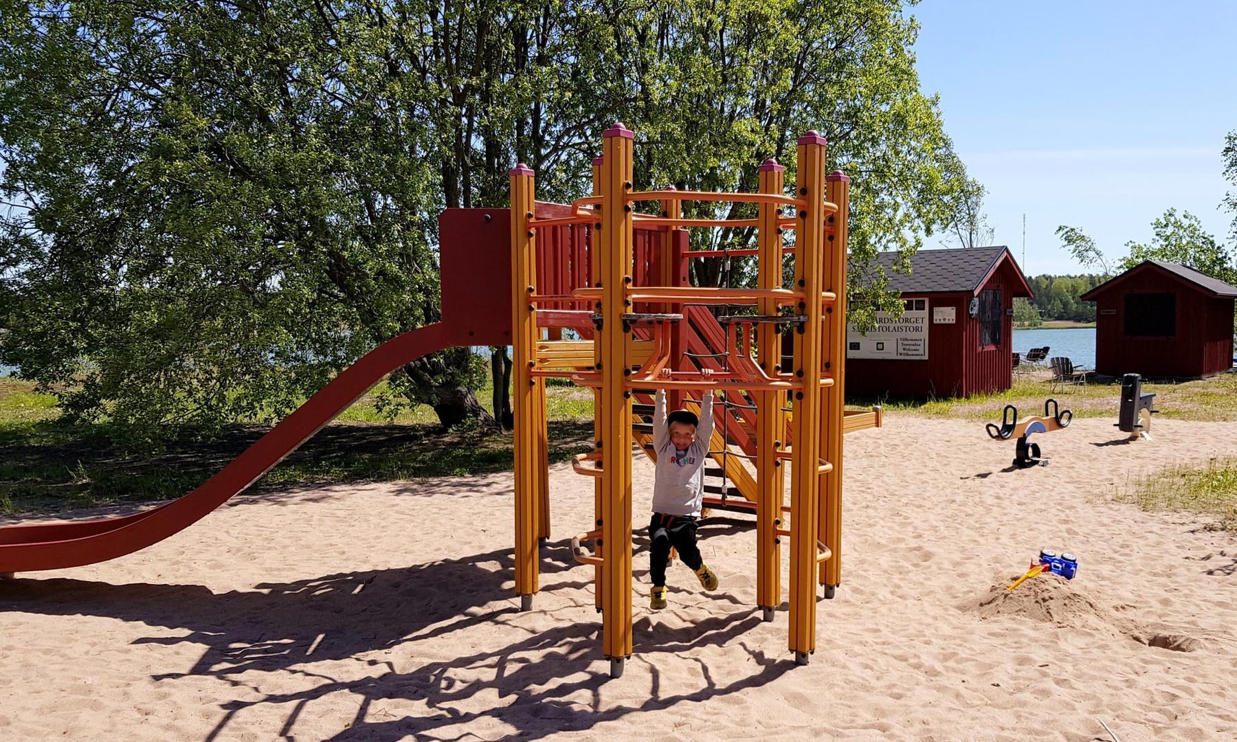 Lekplats för små besökare
