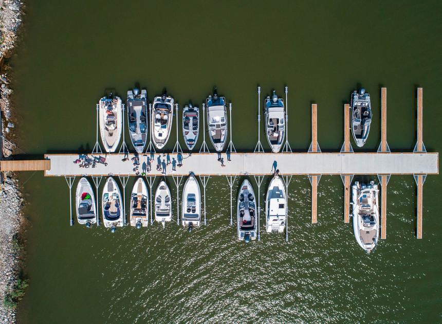 Bryggan för demobåtar och säsongsplatser