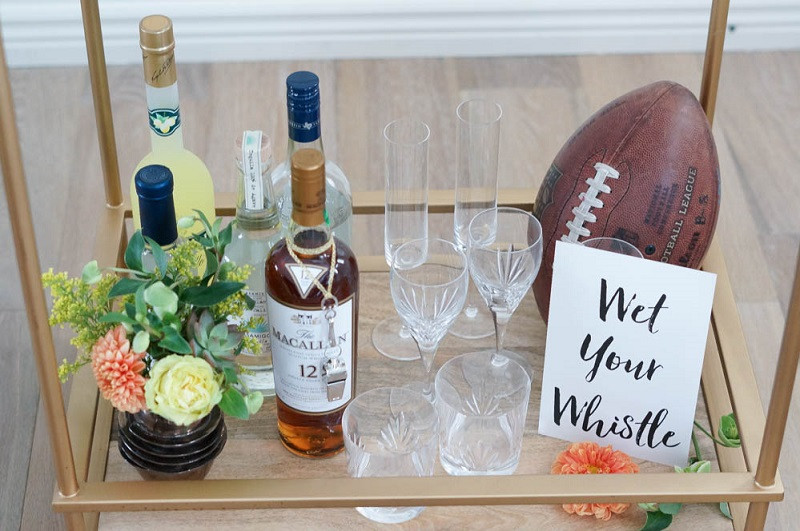 Retro Bar Cart _Football Bettys_Amy Mac Photography