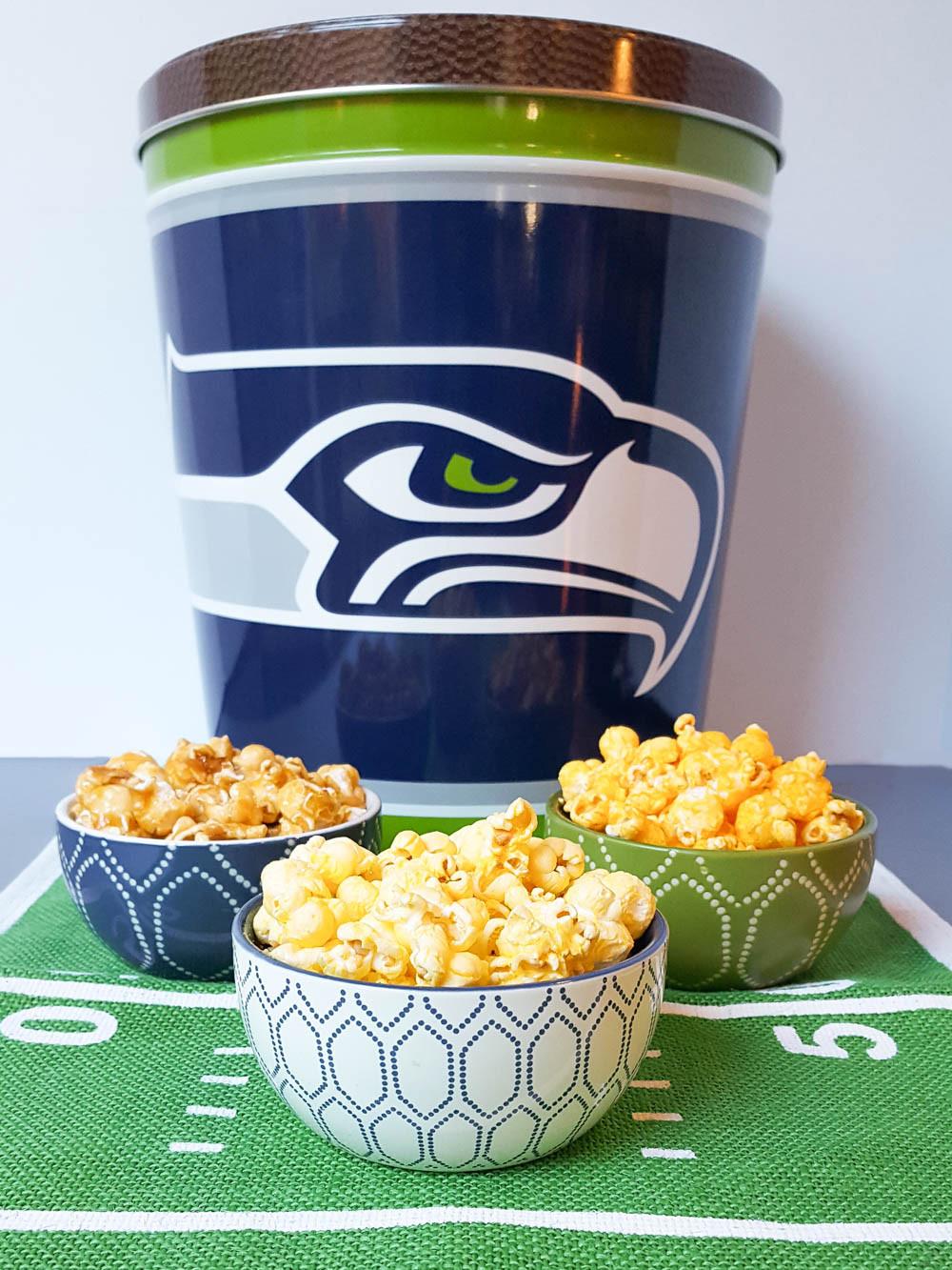Seahawks Popcorn Snack Ideas _Football Bettys_The Popcorn Factory