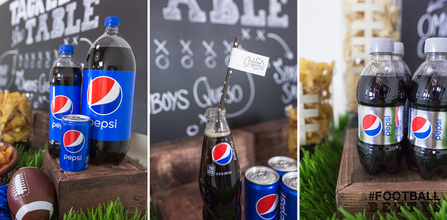 Football Bettys_Women who love football_football party ideas_simple DIY party ideas_tackle the table_Pepsi
