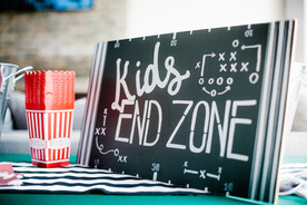 Football Party Ideas: The Kids End  Zone