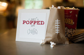 Football Party Ideas: A Quick and Easy Popcorn bar