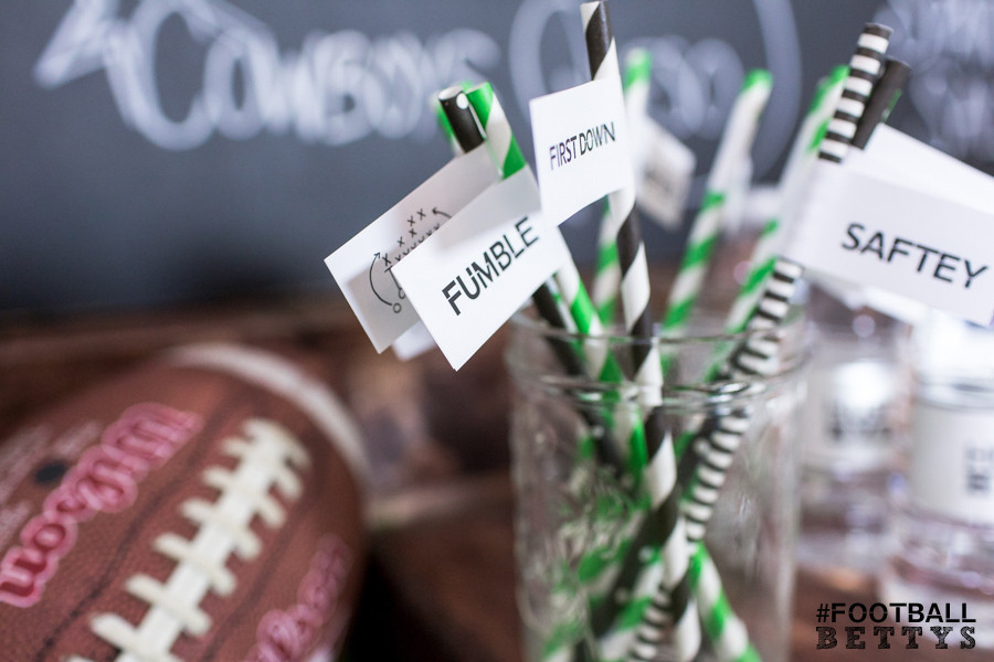 Football Bettys_Women who love football_football party ideas_simple DIY party ideas_tackle the table