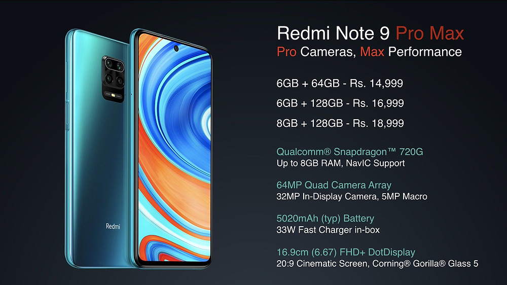 Note 9 Pro Max Specs and Price