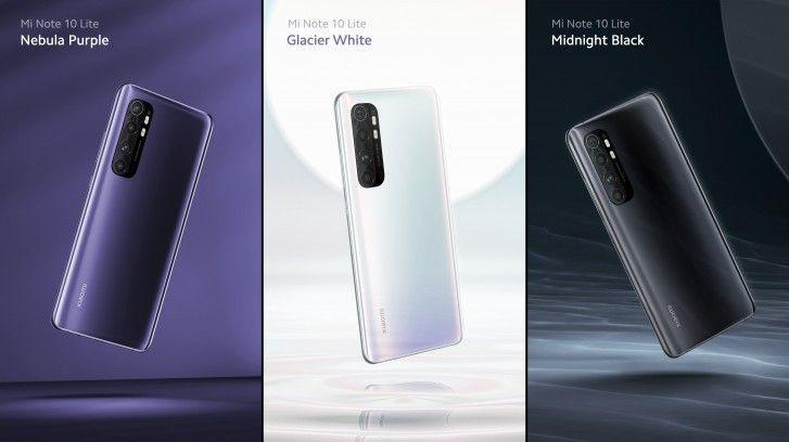 Xiaomi Mi Note 10 Lite Colour Variants