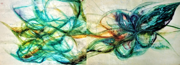 Weaving of The Cosmic Veil (Diptych)