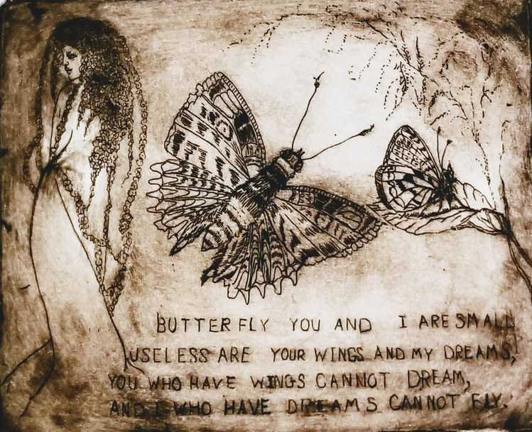 Butterfly You and Me (In Sepia)