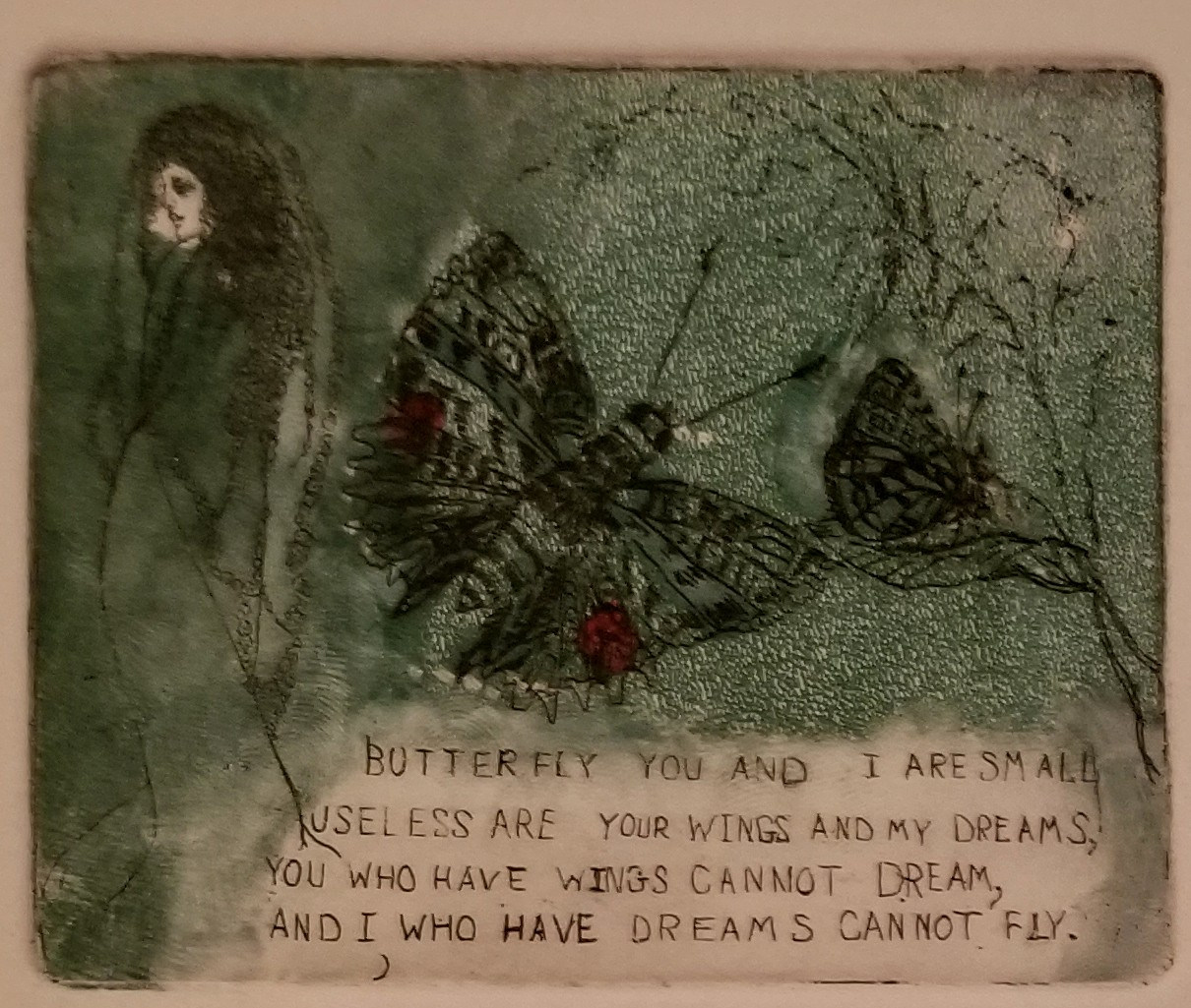 Butterfly You and Me (Hand Colored)
