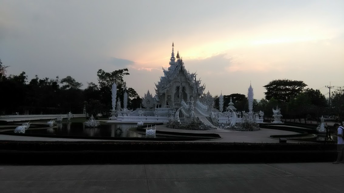 White Temple in the evening