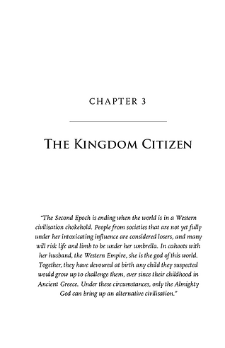 The End of the Second Epoch, Chapter 3