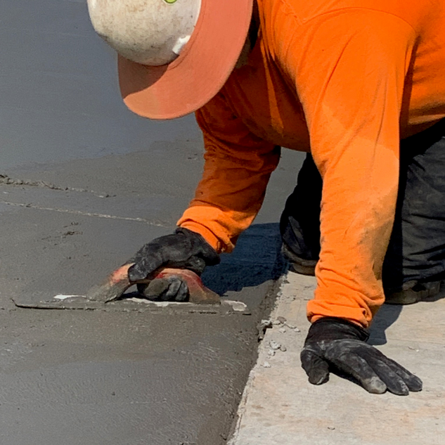 Key Edging Concrete Around Drains