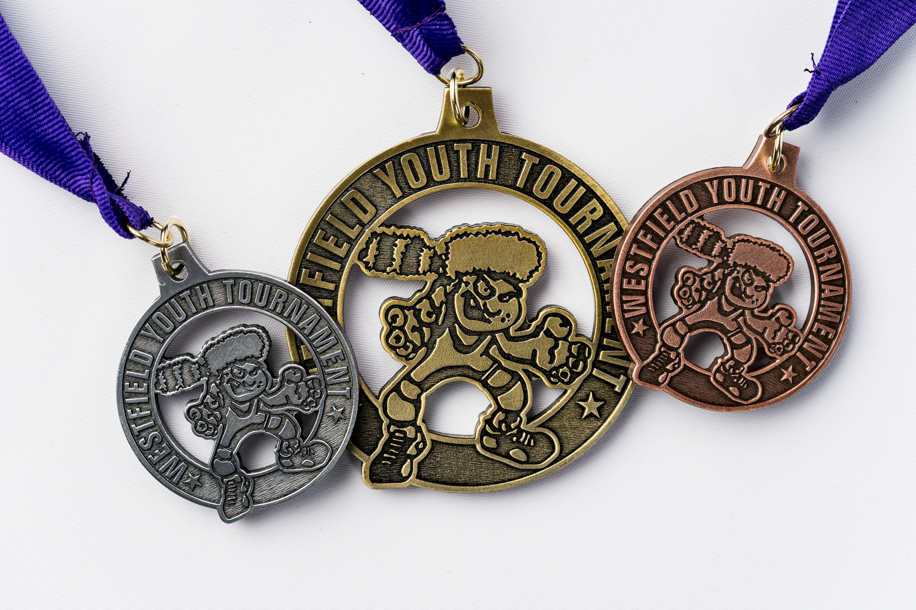 Custom medal sample with cut away