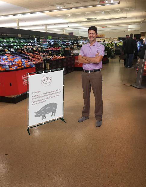 Store Display and 833 Representative