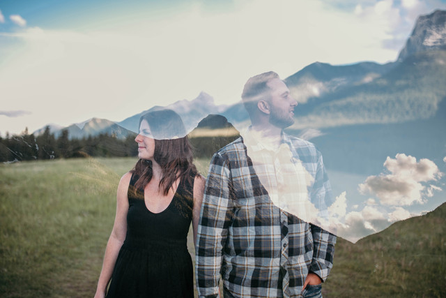 Tammy + Kalvin's Canmore Engagement Session
