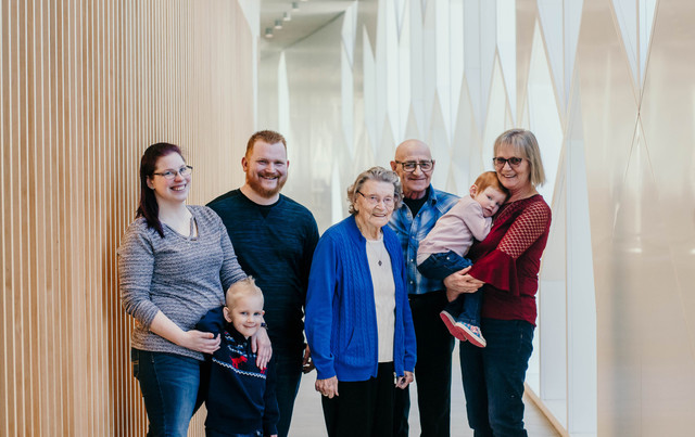 Simundson Family Photos at the New Library