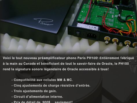 Lancement du pré-amplificateur phono Paris PH100!