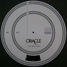 Disque Calibrator de Oracle - Outil de calibration de vitesse platine tourne-disques - Oracle Audio