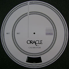 Oracle Calibrator Disc - Turntable speed calibration tool - Oracle Audio