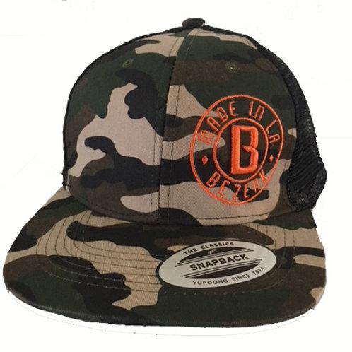 Bezerk Camo Mesh Snapback Hat
