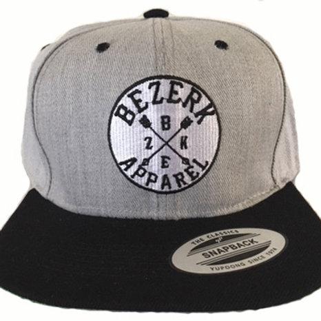 Bezerk Tribe Patch Grey Snapback Hat