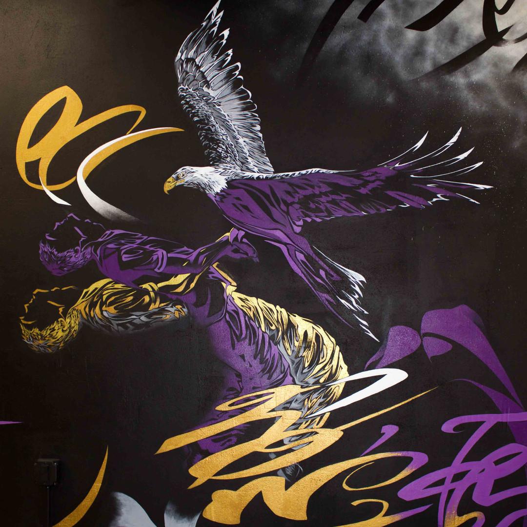 Oscar Lett | First Class Tattoo mural