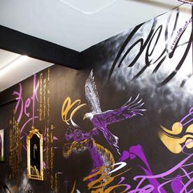 Oscar Lett   First Class Tattoo mural