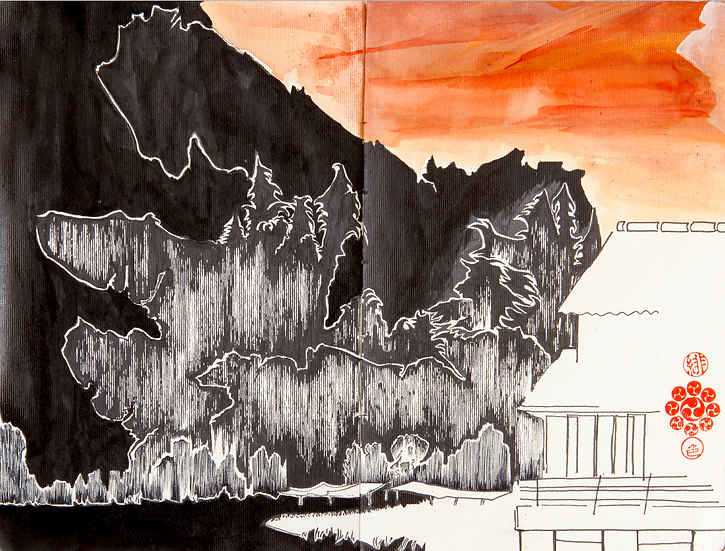 The fiery sky of Ohara - PRINT