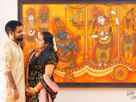 Traditional Hindu Engagement Ceremony at Thripoonithura