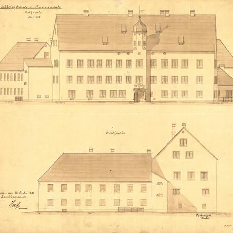 Schloss Immenstadt Eventlocation Allgäu Geschichte Historische Zeichnung