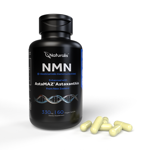 NMN 330mg Veggie Capsule - with Astaxanthin for Enhanced Anti-Aging