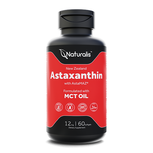 Astaxanthin 12mg with MCT Oil for Better Absorption (2 month supply)