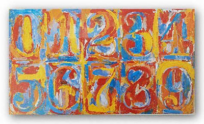 Jasper Johns numbers for K