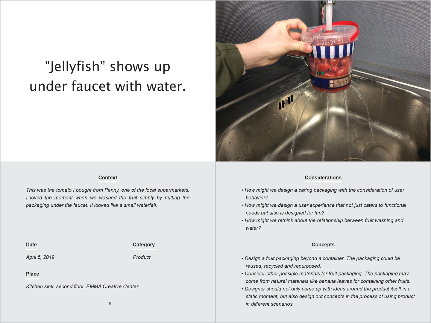 """""""Jellyfish"""" shows up under faucet with water."""
