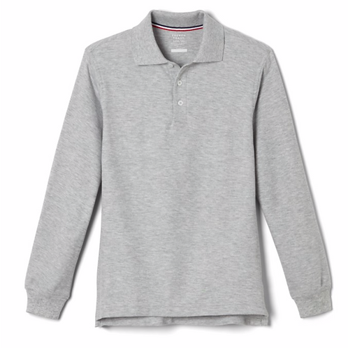 Adult Long Sleeve Unisex Polo with Transfer
