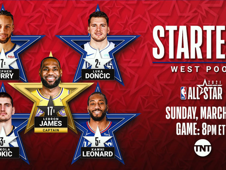 NBA All Star Starting Five Is Set!