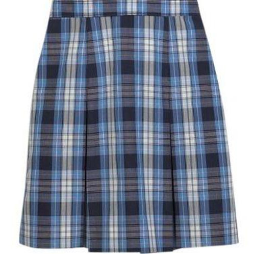 Youth Below The Knee Plaid Pleated Skirt
