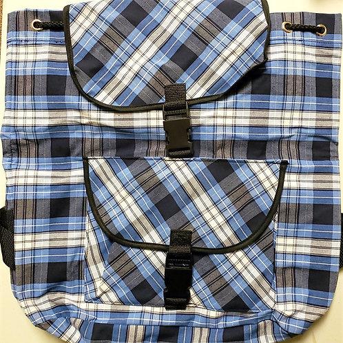 Blue Plaid Backpack