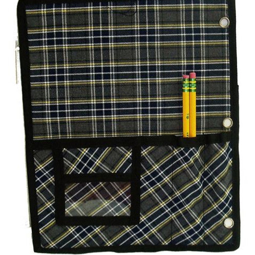 Plaid Binder Organizer